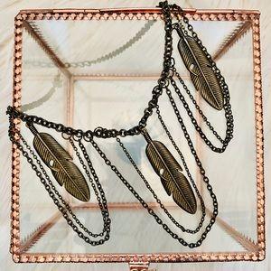 Jewelry - Bronze Boho Leaf Necklace